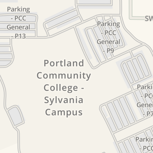 Portland Community College Sylvania Campus Map.Waze Livemap Driving Directions To Pcc Sylvania Campus Portland
