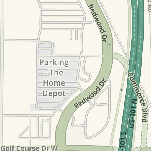 Waze Livemap - Driving Directions to The Home Depot, Rohnert Park ...