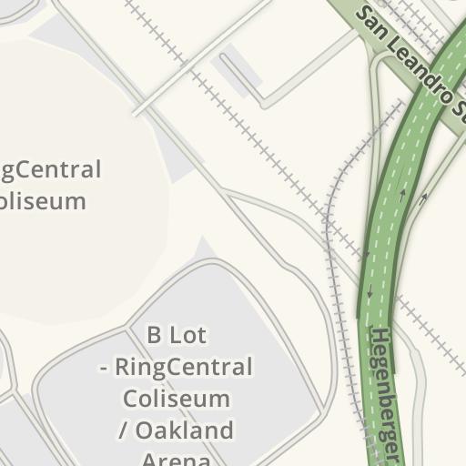 Waze Livemap - Driving Directions to BART - Coliseum Station ...