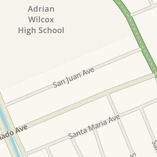 Waze Livemap Driving Directions To Adrian Wilcox High School