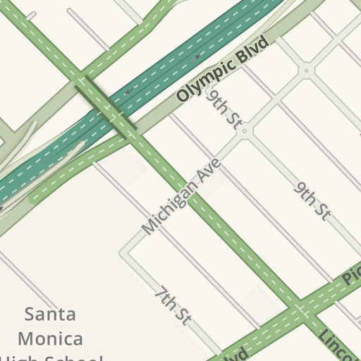 Waze Livemap Driving Directions To Downtown Santa Monica Metro