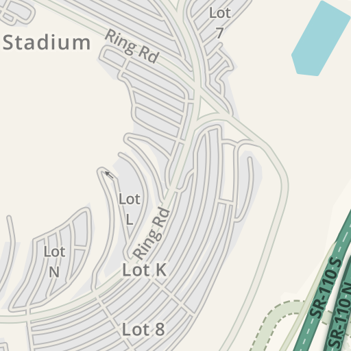 Waze Livemap - Driving Directions to Lot M - Dodger Stadium Parking on