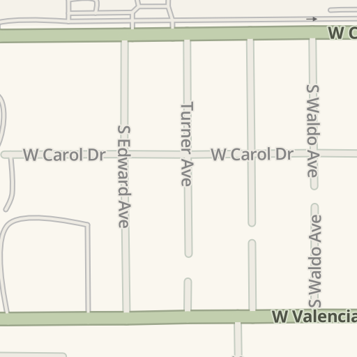 Waze Livemap Driving Directions To Orco Apartment Supply Buena Park United States