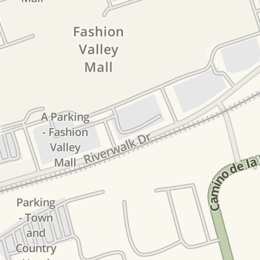 Fashion Valley Mall San Diego Map.Waze Livemap Driving Directions To Amc Fashion Valley 18 San