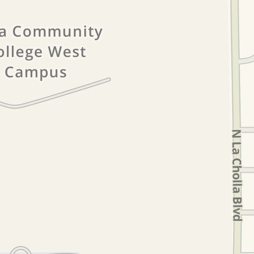 Waze Livemap Driving Directions To Pima Community College West