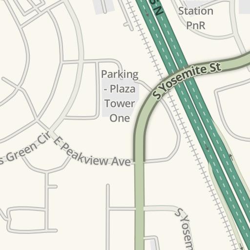Waze Livemap Driving Directions To Regis University Dtc Campus