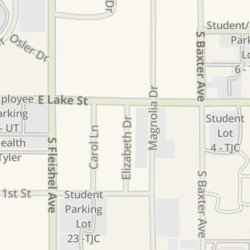 Waze Livemap - Driving Directions to East Garage - UT Health Tyler ...