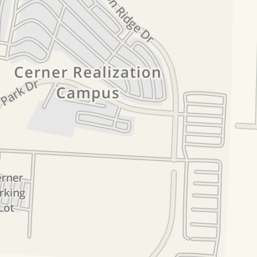 Waze Livemap - Driving Directions to Cerner Parking Lot, Kansas City