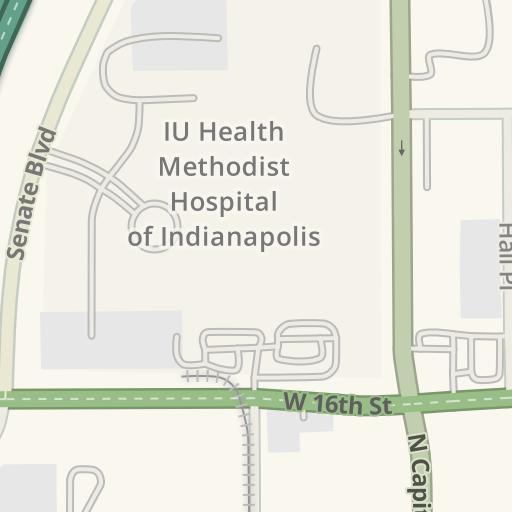 Driving Directions to IU Health Methodist Employee Parking