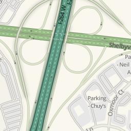Waze Livemap - Driving Directions to Parking - Mall St ... on jewish hospital louisville ky map, orangeburg sc map, st. matthews louisville ky map,