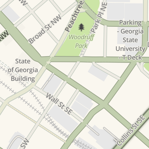 Americasmart Atlanta Map.Waze Livemap Driving Directions To Atlanta Convention Center At