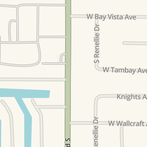Waze Livemap Driving Directions To Tampa Family Health Center