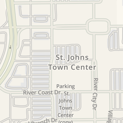 Waze Livemap Driving Directions To St Johns Town Center North