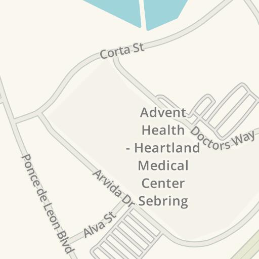 Heartland Florida Map.Waze Livemap Driving Directions To Er Florida Hospital Heartland