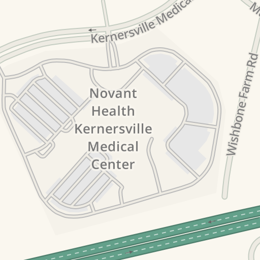 Waze Livemap Driving Directions To Er Novant Health Kernersville
