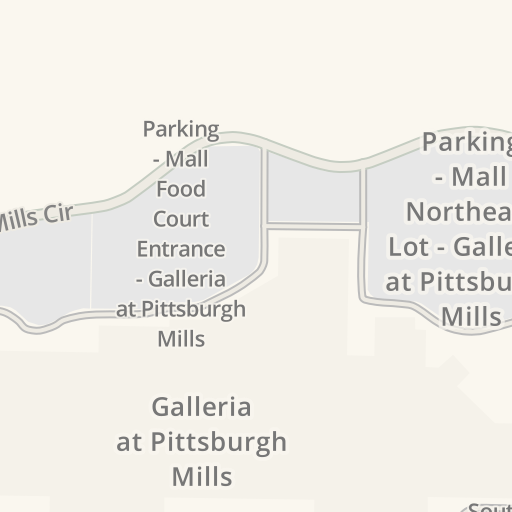 Waze Livemap Driving Directions To Galleria At Pittsburgh Mills