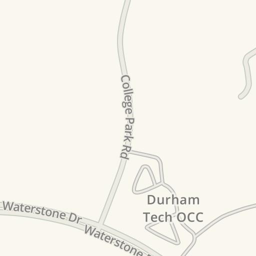 Waze Livemap - Driving Directions to Durham Tech OCC, Hillsborough on