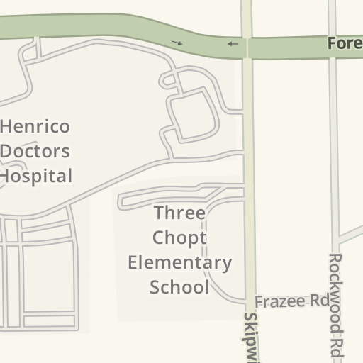 Waze Livemap Driving Directions To Henrico Doctors Hospital