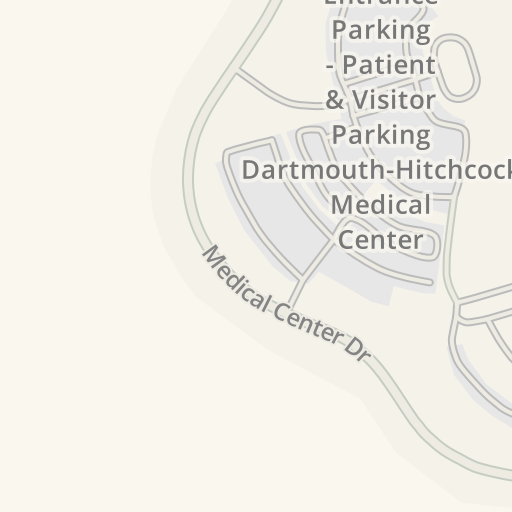 Waze Livemap - Driving Directions to Main Entrance Parking - Patient on