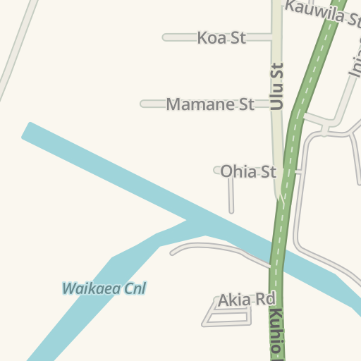 Waze Livemap - Driving Directions to Pono Kai Resort, Kapaa, United ...