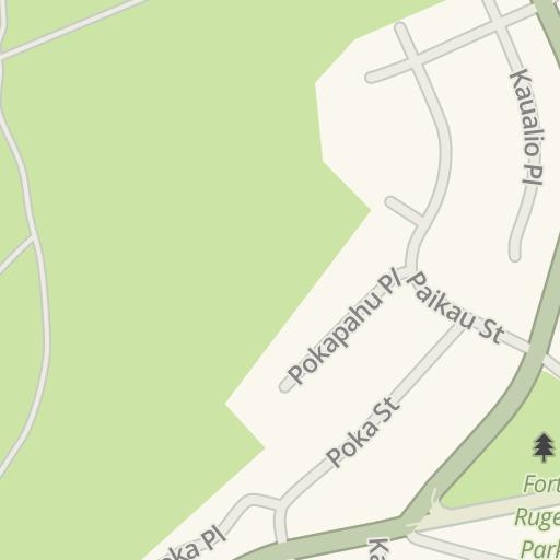 Waze Livemap Driving Directions To Subway Kapiolani Community