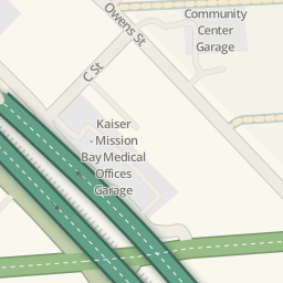 Driving directions to Kaiser Mission Bay Medical Offices Garage